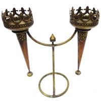 Wood and brass mashal