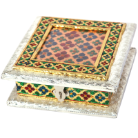 Wooden and Oxidised Square dryfruit box