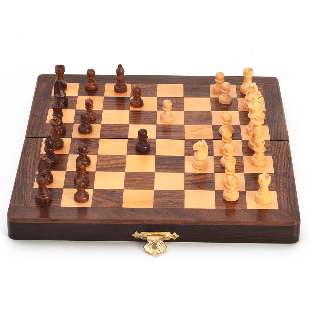 Wooden Chess Table ~ Buy wooden handcrafted chess board online boontoon