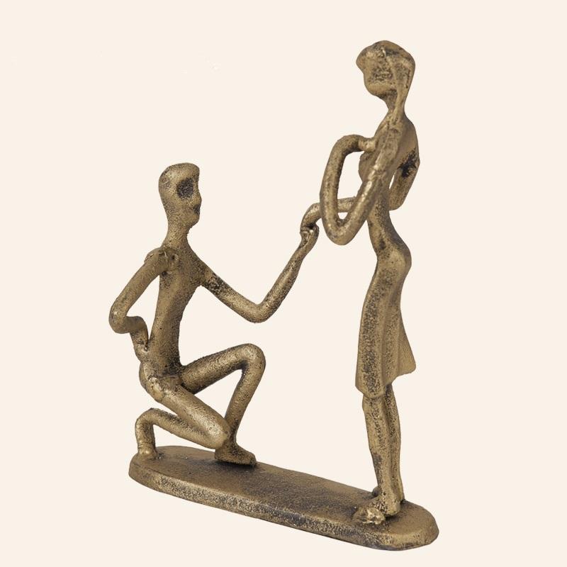 Romantic-Propose-font-b-Sculpture-b-font-Ornamental-Iron-Handicraft-font-b-Gift-b-font-Accessories