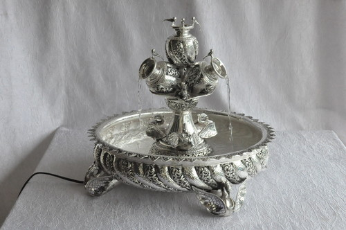 Silver-Decorative-Candle-Stand