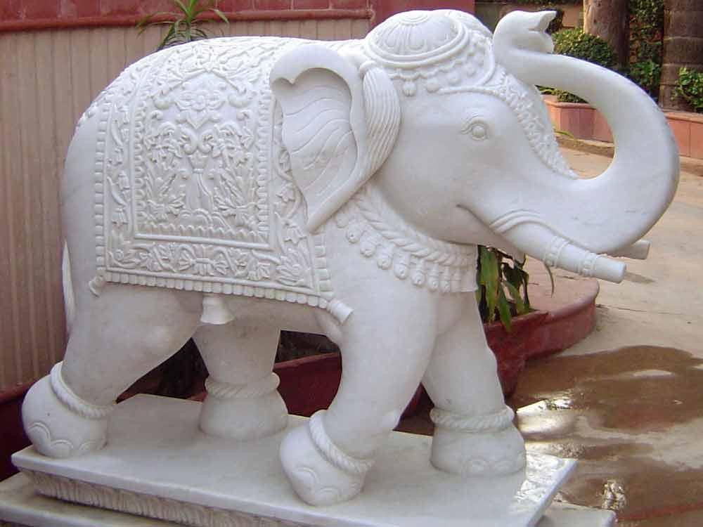 white-marble-elephant