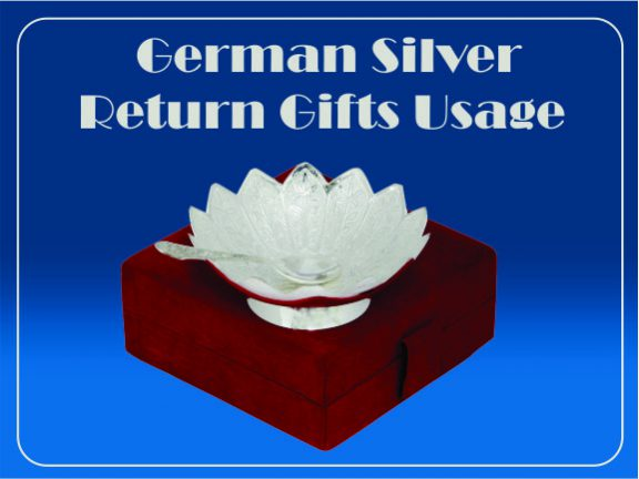 German Silver Return Gift Usage