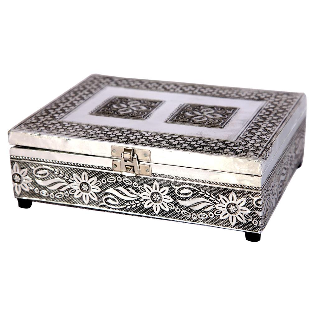 Oxidized Traditional Velvet Jewelry Box